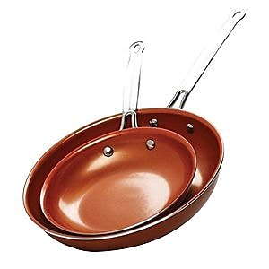 Brentwood Copper Aluminum 2-Piece Non-Stick Frying Pan Set (BFP-2810C)