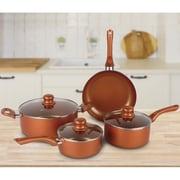 Brentwood Cookware Aluminum 7-Piece Non-Stick Cookware Set, Copper (BPS-107C)