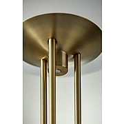 """Adesso® Newton 71""""H Antique Brass LED Torchiere with Frosted Glass Bowl Shade (5172-21)"""