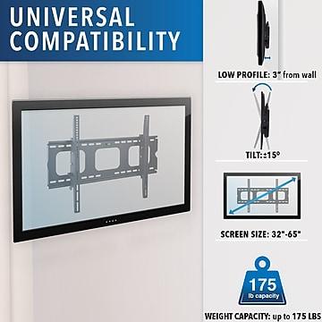 "Mount-It! Tilt Wall TV Mount for 32"" - 65"" Screens, 175 lbs. Max. (MI-303B)"