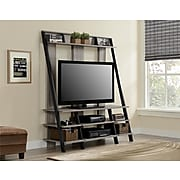"""Ameriwood Home Dunnington Entertainment Center, Distressed Gray Oak, For TVs up to 48"""" (1622096PCOM)"""