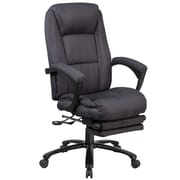 Flash Furniture High Back Fabric Executive Reclining Swivel Office Chair with Comfort Coil Seat Springs (BT90288HGY)