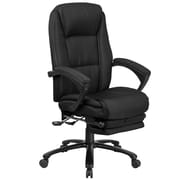 Flash Furniture High Back Fabric Executive Reclining Swivel Office Chair with Comfort Coil Seat Springs (BT90288HBK)