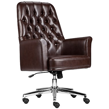 Flash Furniture Mid-Back Traditional Tufted Executive Swivel Chair with Arms (BT444MIDBN)