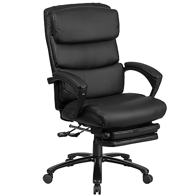 Flash Furniture High Back Leather Executive Reclining Swivel Chair with Comfort Coil Seat Springs and Arms (BT90519H)