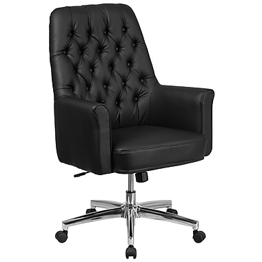 Flash Furniture Mid-Back Traditional Tufted Executive Swivel Chair with Arms (BT444MIDBK)