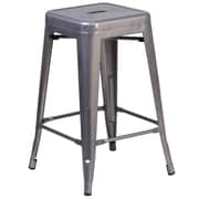 Flash Furniture 24'' High Backless Metal Indoor Barstool with Square Seat (XUDGTP000424)