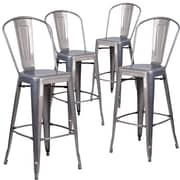 Flash Furniture 30'' High Indoor Counter Height Stool with Back 4/ Pack(4XUDGTP001B30)