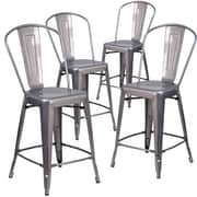 Flash Furniture 24'' High Indoor Counter Height Stool with Back 4/ Pack (4XUDGTP001B24)