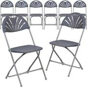 Flash Furniture HERCULES Series 800 lb. Capacity Plastic Fan Back Folding Chair 8/Pack (8LEL4CH)