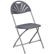 Flash Furniture Hercules Series 800 lb. Capacity Plastic Fan Back Folding Chair