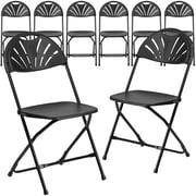 Flash Furniture HERCULES Series 800 lb. Capacity Plastic Fan Back Folding Chair 8/Pack(8LEL4BK)