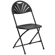 Flash Furniture HERCULES Series 800 lb. Capacity Plastic Fan Back Folding Chair (LEL4BK)