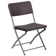 Flash Furniture Hercules Series Rattan Plastic Folding Chair with Grey Frame (DADYCZ61)