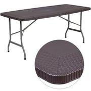 """Flash Furniture 32.5""""W x 67.5""""L Rattan Plastic Folding Table (DADYCZ172)"""