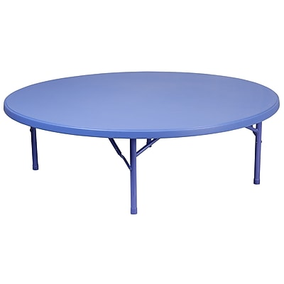 Flash Furniture 60'' Round Kid's Plastic Folding Table (RB60RKIDBL)