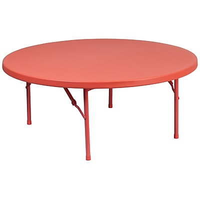 Flash Furniture 48'' Round Kid's Plastic Folding Table (RB48RKIDRD)