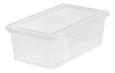 IRIS® 6 Quart Clear Storage Box, 6 Pack
