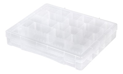 IRIS® Large Divided Case, Clear