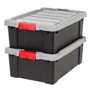 IRIS® Store-It-All Tote 10 Gallon, 2 Pack, Black