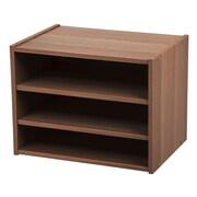 IRIS® Modular Wood Storage Organizer Cube Box w/ Adjustable Shelves, Dark Brown