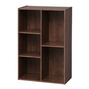 IRIS® 5 Compartment Wood Organizer Bookcase Storage Shelf, Brown