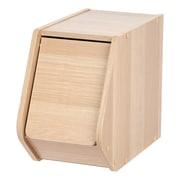 IRIS® Modular Wood Stacking Storage Box with Door, Narrow, Dark Brown