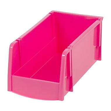 IRIS® Medium Storage Bin, Pink, 8 Pack