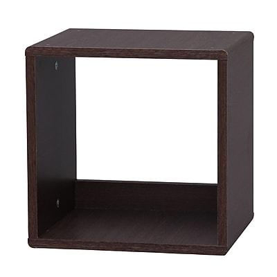 IRIS® 4-Sided Open Cube, Brown Oak