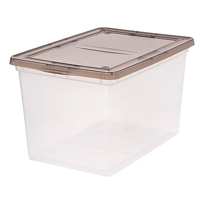 IRIS® 68 Quart Clear Storage Box with Gray Lid, 6 Pack