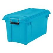IRIS® 82 Quart Weathertight Store-It-All Tote, Teal, 4 Pack