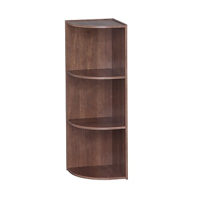 IRIS® 3-Tier Corner Curved Shelf Organizer, Brown