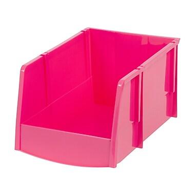 IRIS® Jumbo Storage Bin, Pink, 6 Pack