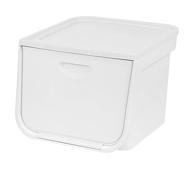 IRIS® 33 Quart Medium Flap Box, White
