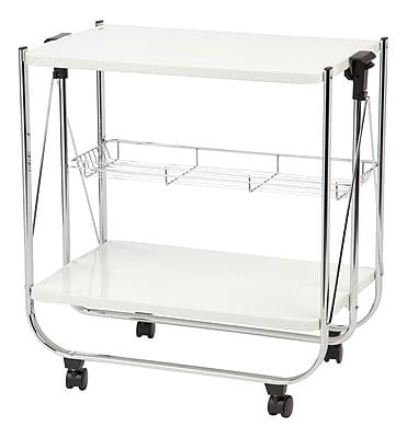 IRIS® Foldable Serving Cart, White