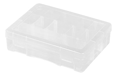 IRIS® Small Divided Case, Clear, 5 Pack