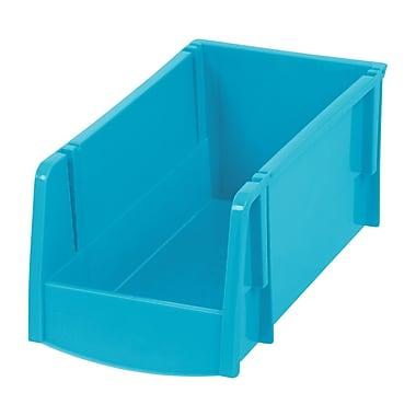 IRIS® Medium Storage Bin, Teal, 8 Pack