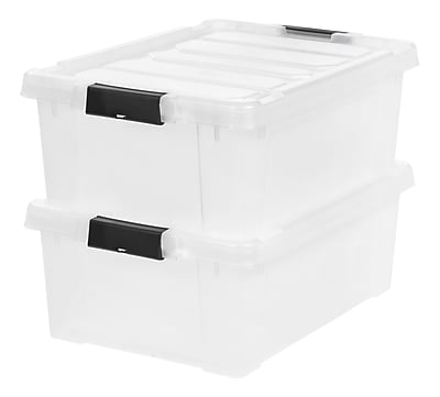 IRIS® Store-It-All Tote 10 Gallon, 2 Pack, Clear