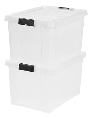 IRIS® Store-It-All Tote 18 Gallon, 2 Pack, Clear