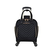 KENNETH COLE REACTION Chelsea Polyester 4-Wheel Spinner Luggage, Black (5717405)
