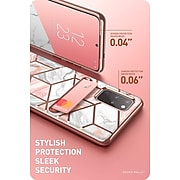 i-Blason Comso Wallet Series White Marble Case for Galaxy S20 Plus (S20PL-COSCD-MAR)
