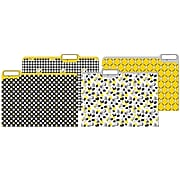 JAM Paper Snoopy File Folders, 4-Tabs, Letter Size, Assorted, 4/Pack (JIGCOCF866409)