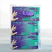"National Marker Wall-Mount/Standalone Acrylic Glove Dispenser, 15"" x 10.75"", Clear, 3PK(AGBT)"