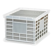 Staples® File Storage Plastic Crate, Letter/Legal Size, Clear (STP-54269)