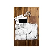 """DENY Designs Marble Polyester Pouch, White/Gray, 6"""" (59510-wpofsm)"""
