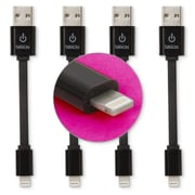 """CableLinx 4-Pack of Lightning to USB 3.5"""" Charge & Sync Cables Black (USB4PK-1-4A)"""