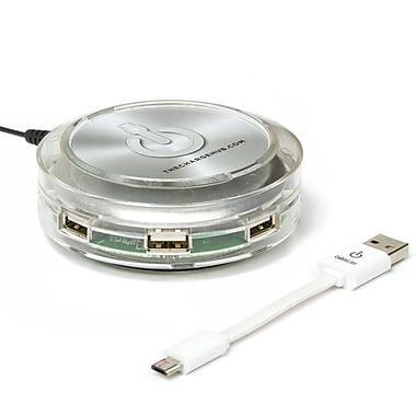 ChargeHub X7 7-Port USB SuperCharger 2.4A Output per Port Clear (CRGRD-X7-201)