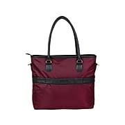 KENNETH COLE REACTION Burgundy Polyester Tote, Medium (54552)