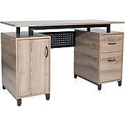 """Techni Mobili 51"""" Computer Desk, Neutral Touch with Gray Finish (RTA-0054-GRY)"""