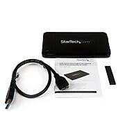 "Startech Slim 2.5"" SATA Hard Drive Enclosure, USB 3.0, Black (S2510BPU337)"